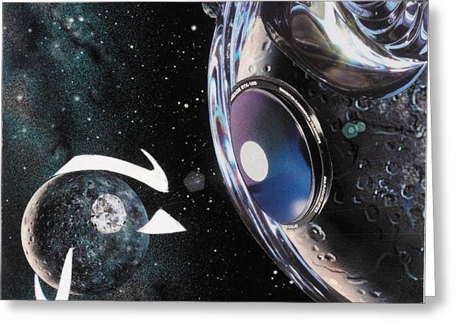 Planetary Mixed Media Greeting Cards - Cosmic Greeting Card by Michelle L Bolin