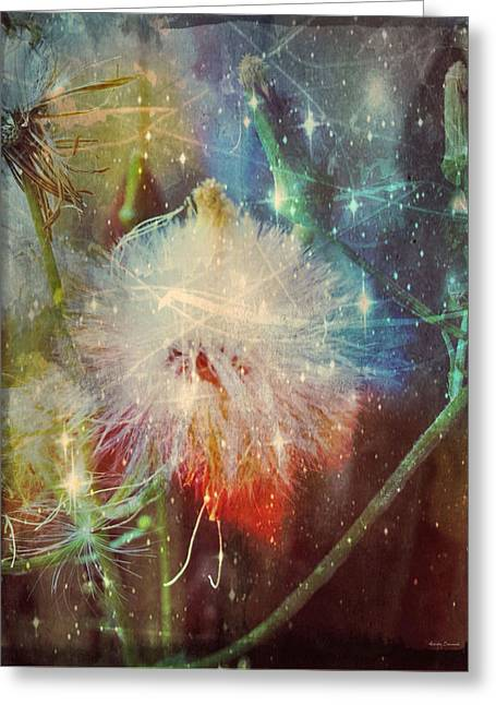 Fineartamerica Greeting Cards - Cosmic Nature Greeting Card by Linda Sannuti