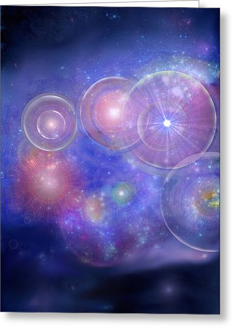 Tara Thelen Greeting Cards - Cosmic Orb Spiral Greeting Card by Tara Thelen