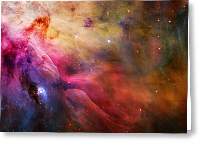 Stellar Paintings Greeting Cards - Cosmic Orion Nebula Greeting Card by Celestial Images