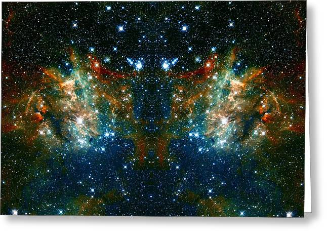 Star Hatchery Greeting Cards - Cosmic Phoenix  Greeting Card by The  Vault - Jennifer Rondinelli Reilly