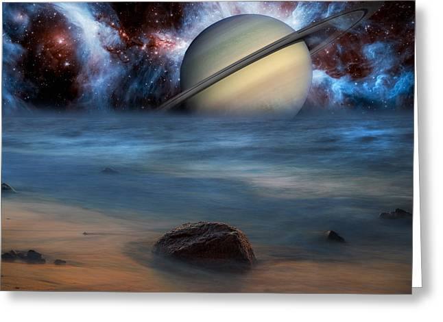 Worldly Greeting Cards - Cosmic Skies Greeting Card by Bill  Wakeley