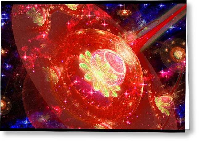 Angel Blues Greeting Cards - Cosmic Space Station 2 Greeting Card by Shawn Dall