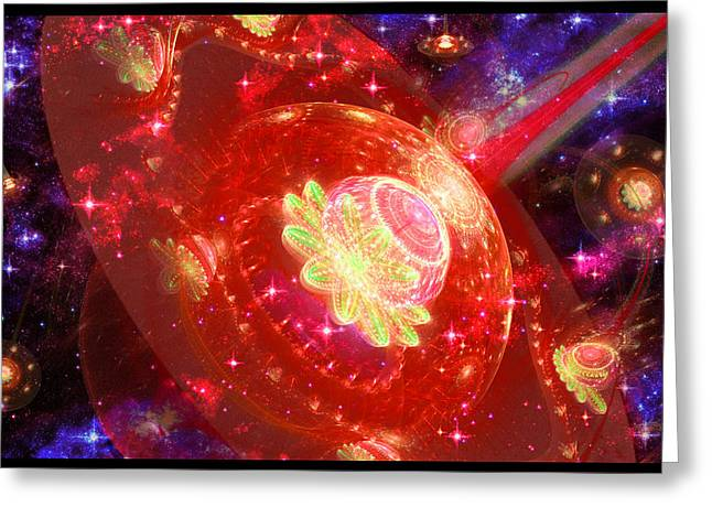 Shawn Dall Greeting Cards - Cosmic Space Station Greeting Card by Shawn Dall