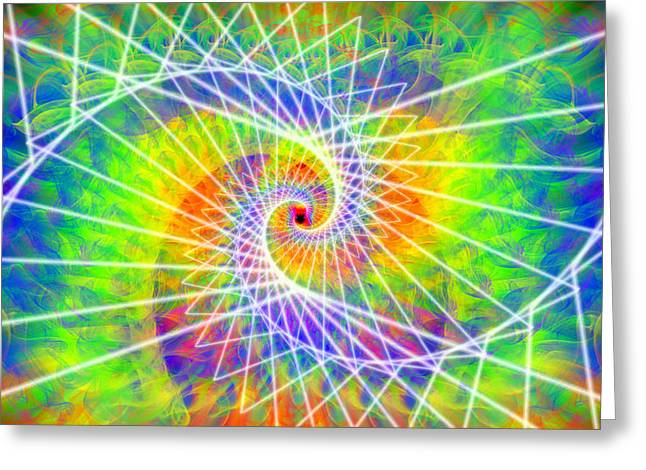 Ascension Mixed Media Greeting Cards - Cosmic Spiral Ascension 03 Greeting Card by Derek Gedney