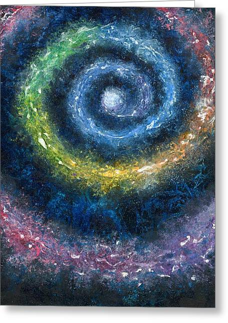 Observer Drawings Greeting Cards - Cosmic Spiral Greeting Card by Melinda DeMent