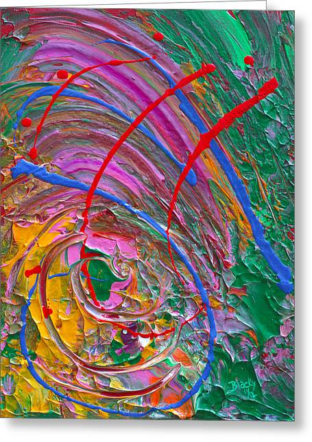 Cosmic Paintings Greeting Cards - Cosmic Thoughts Greeting Card by Donna Blackhall