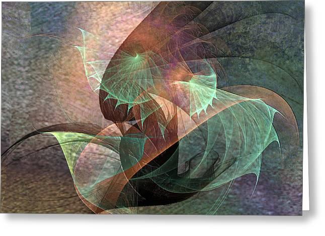 Cosmic Mixed Media Greeting Cards - Cosmic Tundra - Square Version Greeting Card by John Robert Beck