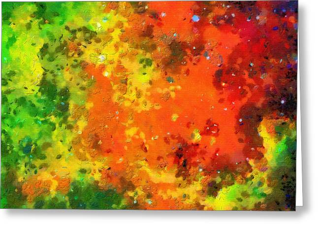 Outer Space Paintings Greeting Cards - Cosmic view Greeting Card by Magomed Magomedagaev