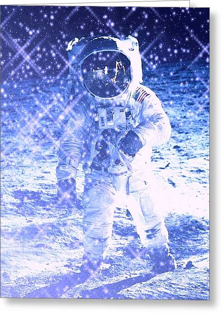Outerspace Mixed Media Greeting Cards - Cosmic Wonders Greeting Card by Drew Goehring