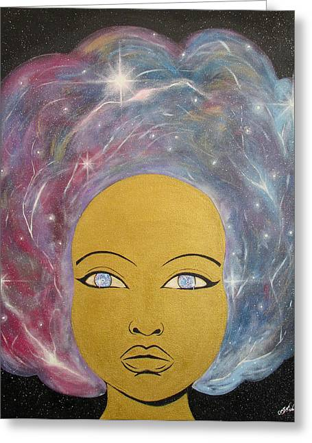 Twinkle Paintings Greeting Cards - Cosmo Queen Greeting Card by Marina Gerges