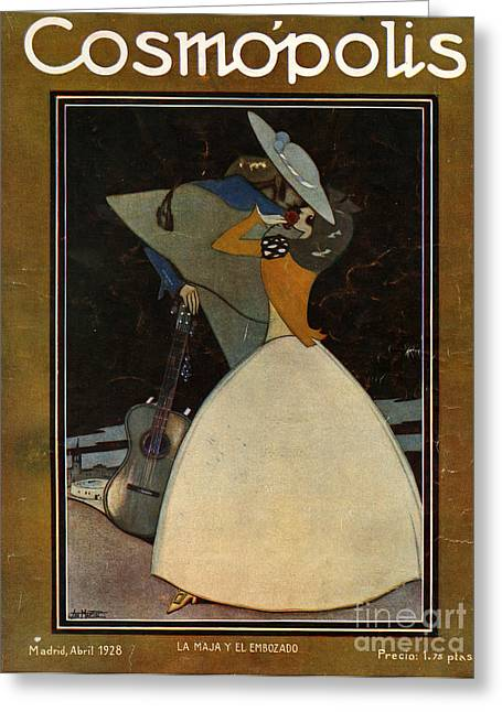 Cosmopolis  1928  1920s Spain Hugging Greeting Card by The Advertising Archives