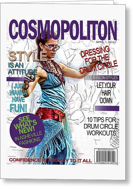 Nc Greeting Cards - Cosmopolitan Faux Cover Greeting Card by John Haldane