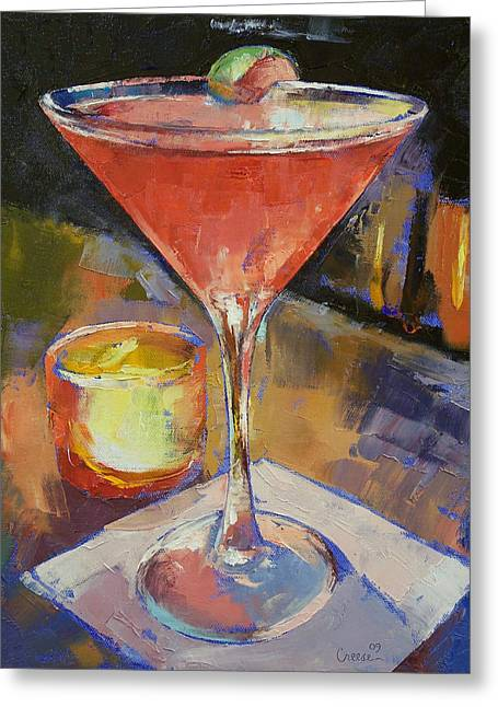 Night Life Greeting Cards - Cosmopolitan Greeting Card by Michael Creese