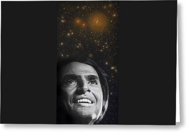 Cosmos- Carl Sagan Greeting Card by Simon Kregar