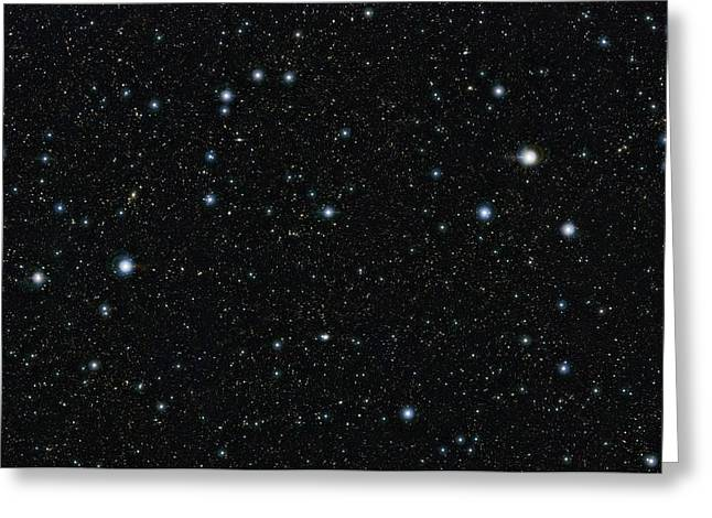 Cosmological Greeting Cards - COSMOS region in Sextans, VISTA image Greeting Card by Science Photo Library