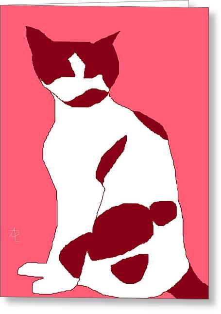 Burgundy Drawings Greeting Cards - Cosmos Rose Greeting Card by Anita Dale Livaditis