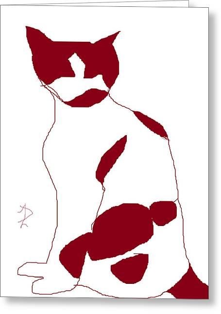 Harmonious Drawings Greeting Cards - Cosmos White Greeting Card by Anita Dale Livaditis