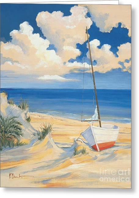Blue Sailboat Greeting Cards - Costa Del Sol I Greeting Card by Paul Brent
