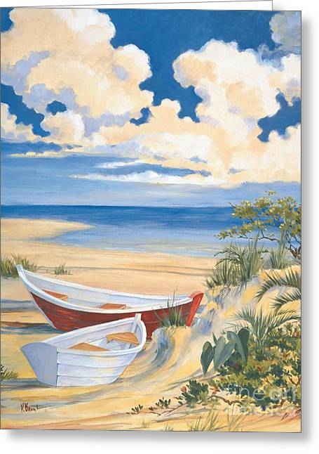 Blue Sailboat Greeting Cards - Costa Del Sol II Greeting Card by Paul Brent