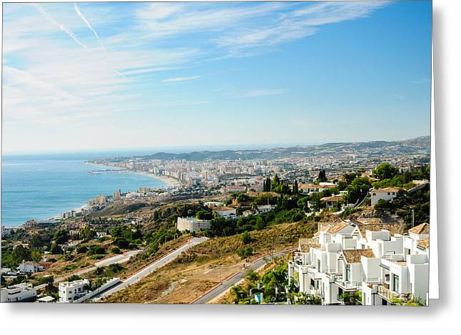 Tetyana Kokhanets Greeting Cards - Costa del Sol Greeting Card by Tetyana Kokhanets