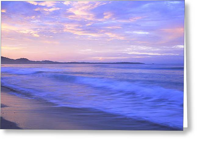 Costa Rica, Beach At Sunrise Greeting Card by Panoramic Images