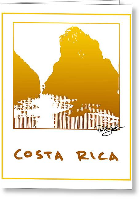 Costa Mixed Media Greeting Cards - Costa Rica Greeting Card by Phil Lohmeyer