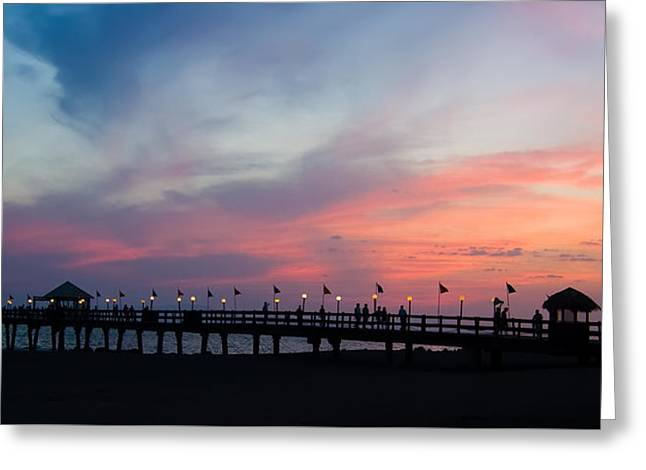 Costa Rican Sunset Greeting Card by Adam Romanowicz