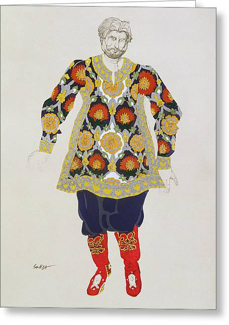 Legend Drawings Greeting Cards - Costume Design For A Man, From Sadko Greeting Card by Leon Bakst