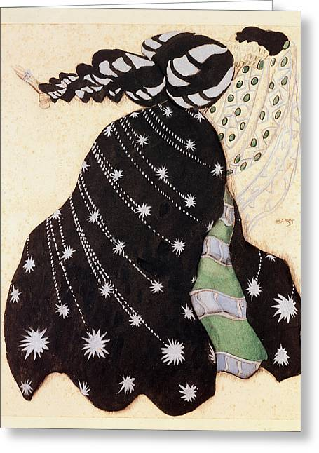 Dress Greeting Cards - Costume Design For The Ballet La Greeting Card by Leon Bakst
