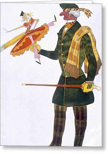 Doll Drawings Greeting Cards - Costume For The Englishman, From La Greeting Card by Leon Bakst