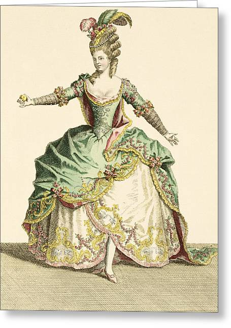 Costume For Venus In Several Operas Greeting Card by Jean Baptiste Martin