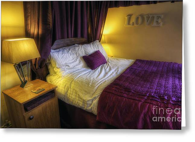 Cushion Greeting Cards - Cosy Bedroom v2 Greeting Card by Ian Mitchell