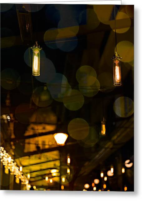Charming Cottage Digital Art Greeting Cards - Cosy Lights Greeting Card by Peter Maroti