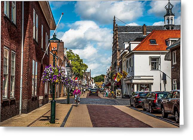 Het Greeting Cards - Cosy Street in Naarden 1. Netherlands Greeting Card by Jenny Rainbow