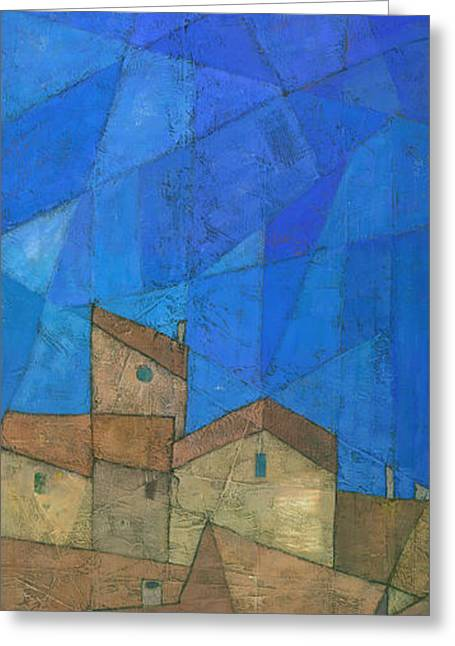 Cubist Paintings Greeting Cards - Cote d Azur II Greeting Card by Steve Mitchell