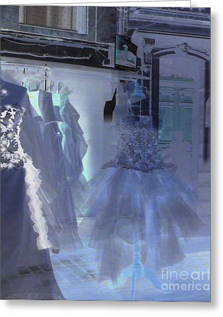 Ghostly Greeting Cards - Cotillion Greeting Card by Lauren Hunter