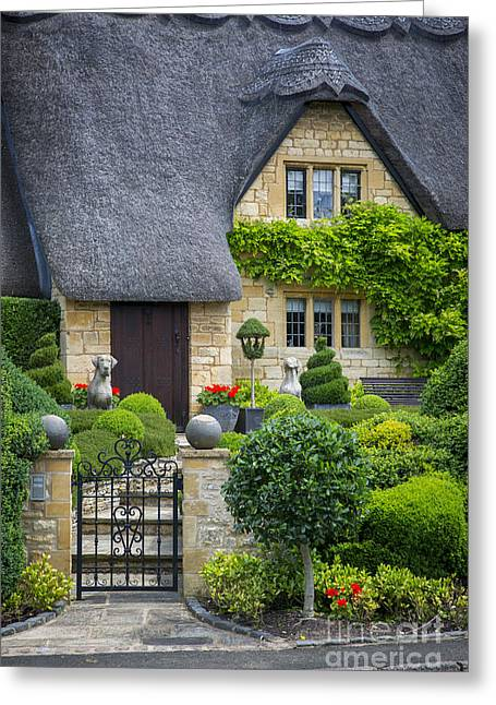 Thatch Greeting Cards - Cotswold Thatched Cottage Greeting Card by Brian Jannsen