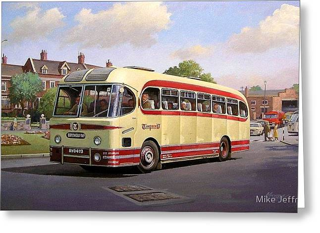 Stratford Greeting Cards - Cotswold tour 1957 Greeting Card by Mike  Jeffries