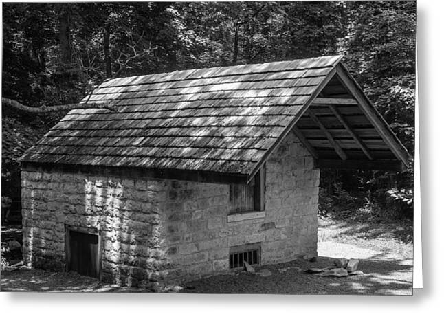 Home Of Andrew Jackson Greeting Cards - Cottage by the stream at The Hermitage Greeting Card by Robert Hebert