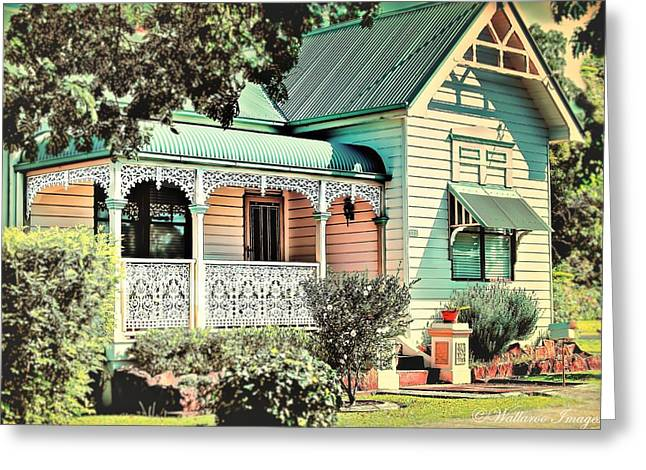 Charming Cottage Digital Art Greeting Cards - Cottage Collection Lucy Greeting Card by Wallaroo Images