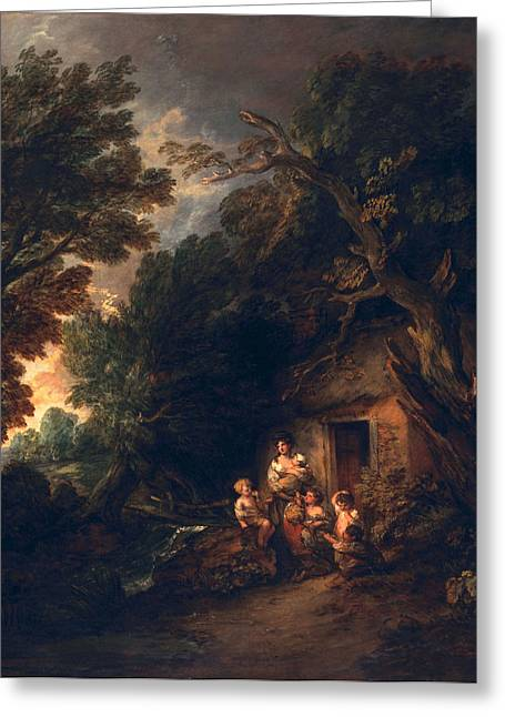 Impoverished Greeting Cards - Cottage Door, C.1780 Greeting Card by Thomas Gainsborough