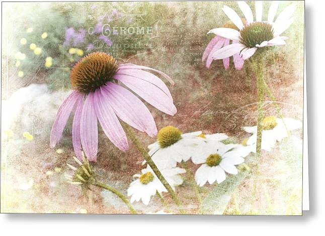 Artography Greeting Cards - Cottage Garden Flowers Greeting Card by Melissa Bittinger