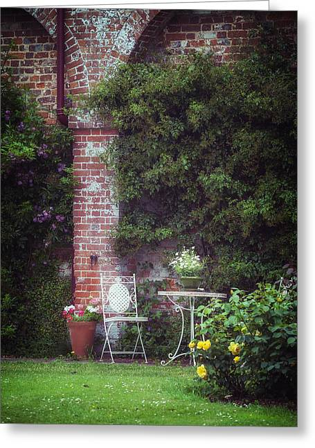 Vernal Greeting Cards - Cottage Garden Greeting Card by Joana Kruse