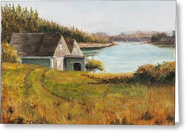 Cottage Glow Greeting Card by Cindy Plutnicki