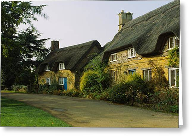 Thatch Greeting Cards - Cottage In A Village, Hidcote Bartrim Greeting Card by Panoramic Images