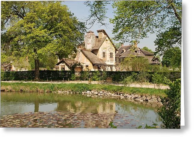 Spring Garden Greeting Cards - Cottage in the Hameau de la Reine Greeting Card by Jennifer Lyon