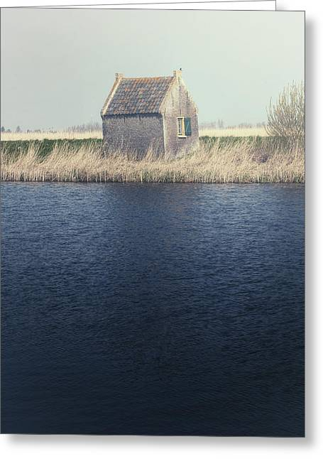 Small House Greeting Cards - Cottage Greeting Card by Joana Kruse