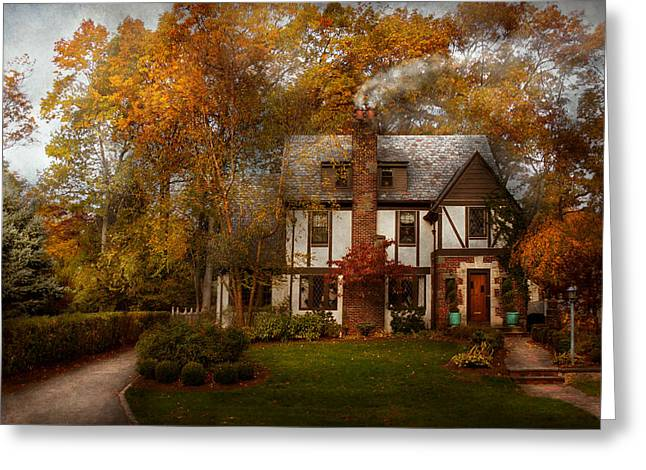 Charming Cottage Greeting Cards - Cottage - Westfield NJ - A home like any other Greeting Card by Mike Savad