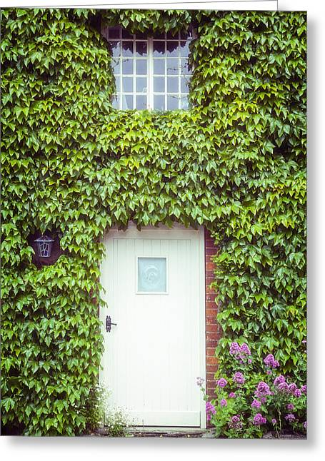 Green Lantern Photographs Greeting Cards - Cottage With Ivy Greeting Card by Joana Kruse